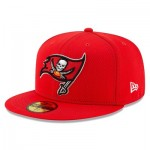 Tampa Bay Buccaneers New Era 2019 Official Road Sideline 59FIFTY Fitted Cap