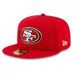 San Francisco 49ers New Era 2019 Official Road Sideline 59FIFTY Fitted Cap