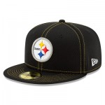 Pittsburgh Steelers New Era 2019 Official Road Sideline 59FIFTY Fitted Cap