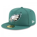Philadelphia Eagles New Era 2019 Official Road Sideline 59FIFTY Fitted Cap