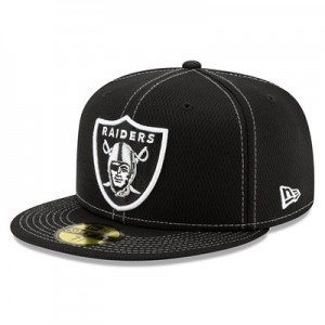 Oakland Raiders New Era 2019 Official Road Sideline 59FIFTY Fitted Cap
