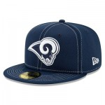 Los Angeles Rams New Era 2019 Official Road Sideline 59FIFTY Fitted Cap