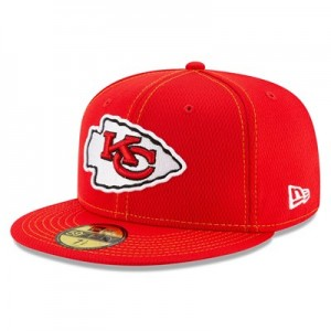 Kansas City Chiefs New Era 2019 Official Road Sideline 59FIFTY Fitted Cap