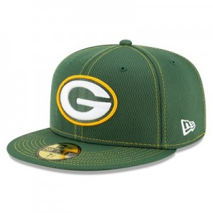 Green Bay Packers New Era 2019 Official Road Sideline 59FIFTY Fitted Cap