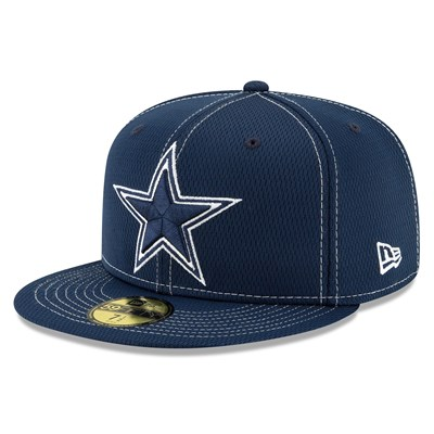 Dallas Cowboys New Era 2019 Official Road Sideline 59FIFTY Fitted Cap