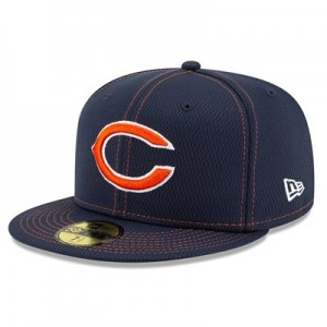 Chicago Bears New Era 2019 Official Road Sideline 59FIFTY Fitted Cap