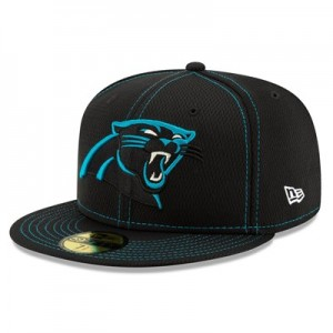 Carolina Panthers New Era 2019 Official Road Sideline 59FIFTY Fitted Cap