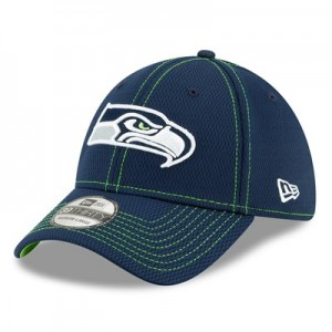 Seattle Seahawks New Era 2019 Official Road Sideline 39THIRTY Stretch Fit Cap