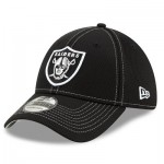 Oakland Raiders New Era 2019 Official Road Sideline 39THIRTY Stretch Fit Cap