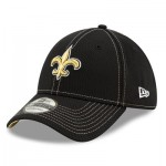 New Orleans Saints New Era 2019 Official Road Sideline 39THIRTY Stretch Fit Cap