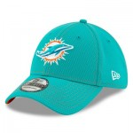 Miami Dolphins New Era 2019 Official Road Sideline 39THIRTY Stretch Fit Cap