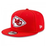 Kansas City Chiefs New Era 2019 Official Road Sideline 9FIFTY Snapback Cap