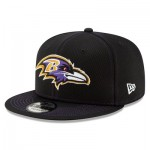 Baltimore Ravens New Era 2019 Official Road Sideline 9FIFTY Snapback Cap