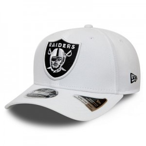 Oakland Raiders New Era Stretch Snap 9FIFTY Snpaback Cap - White