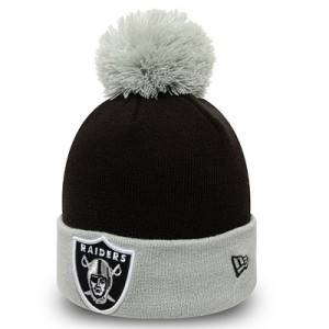 Oakland Raiders New Era Pop Bobble Knit