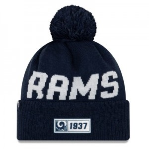 Los Angeles Rams New Era 2019 Official Cold Weather Road Knit