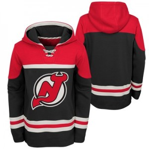 New Jersey Devils Asset Pullover Hockey Hoodie - Youth