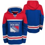 New York Rangers Asset Pullover Hockey Hoodie - Youth