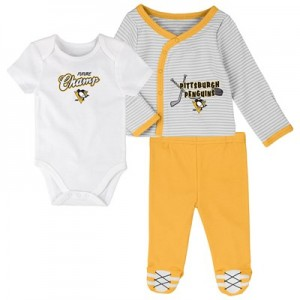Pittsburgh Penguins Bodysuit 3 Piece Set - Newborn