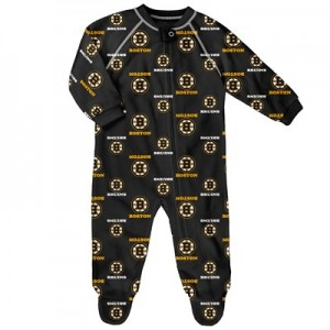 Boston Bruins Raglan AOP Sleeper Suit - Newborn
