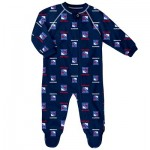 New York Rangers Raglan AOP Sleeper Suit - Newborn