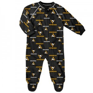 Pittsburgh Penguins Raglan AOP Sleeper Suit - Newborn