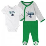 Vancouver Canucks Bodysuit 3 Piece Set - Newborn