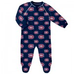 Montreal Canadiens Raglan AOP Sleeper Suit - Newborn