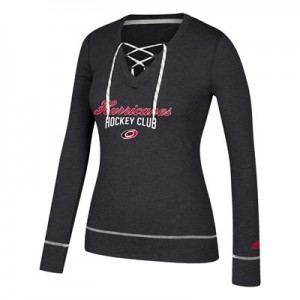Carolina Hurricanes adidas Skate Lace Top - Womens