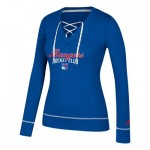 New York Rangers adidas Skate Lace Top - Womens
