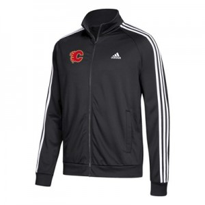 Calgary Flames adidas 3 Stripes Track Jacket - Mens