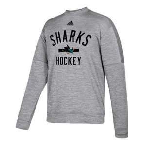 San Jose Sharks adidas Fleece Climawarm Crew - Mens