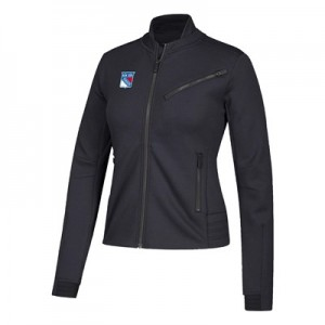 New York Rangers adidas Moto Jacket - Womens
