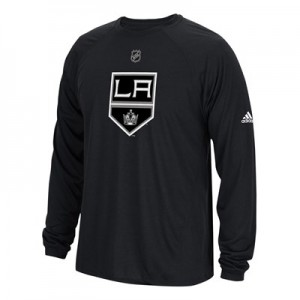 Los Angeles Kings adidas Long Sleeve Climalite T-Shirt - Mens