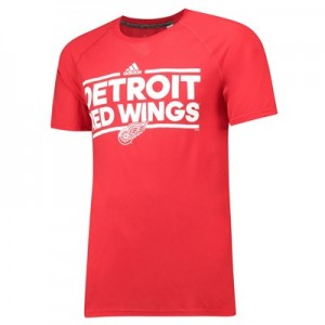 Detroit Red Wings adidas Authentic Ice Short Sleeve Climalite T-Shirt - Mens