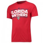 Florida Panthers adidas Authentic Ice Short Sleeve Climalite T-Shirt - Mens