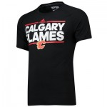 Calgary Flames adidas Authentic Ice Short Sleeve Climalite T-Shirt - Mens