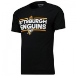 Pittsburgh Penguins adidas Authentic Ice Short Sleeve Climalite T-Shirt - Mens