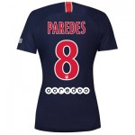 Paris Saint-Germain Home Stadium Shirt 2018-19 - Womens with Paredes 8 printing