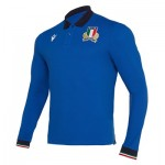 Italy Rugby Home Replica Polo - Long Sleeve
