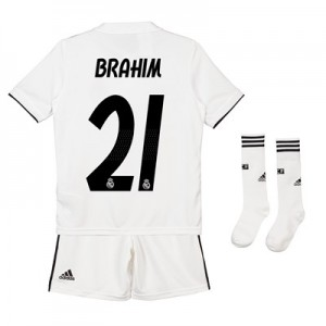 Real Madrid Home Kids Kit 2018-19 with Brahim 21 printing
