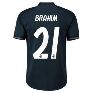 Real Madrid Away Authentic Shirt 2018-19 with Brahim 21 printing