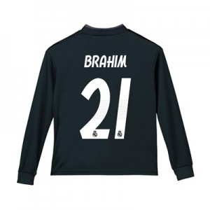 Real Madrid Away Shirt 2018-19 - Long Sleeve - Kids with Brahim 21 printing