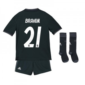 Real Madrid Away Kids Kit 2018-19 with Brahim 21 printing