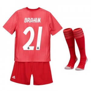 Real Madrid Third Kids Kit 2018-19 with Brahim 21 printing