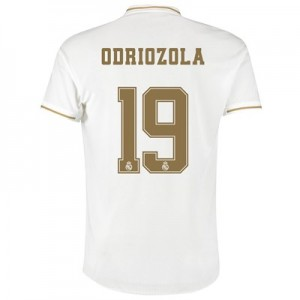 Real Madrid Home Authentic Shirt 2019-20 with Odriozola 19 printing