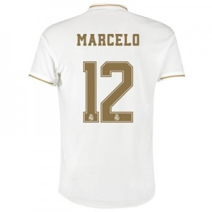 Real Madrid Home Authentic Shirt 2019-20 with Marcelo 12 printing