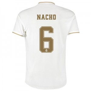 Real Madrid Home Authentic Shirt 2019-20 with Nacho 6 printing