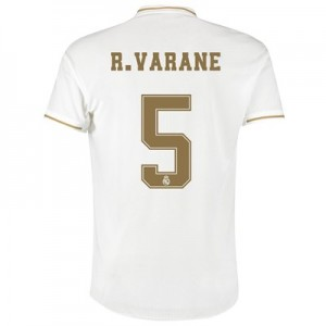 Real Madrid Home Authentic Shirt 2019-20 with R. Varane 5 printing