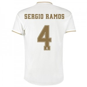 Real Madrid Home Authentic Shirt 2019-20 with Sergio Ramos 4 printing